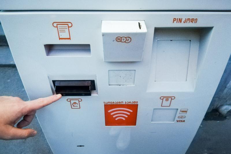 شارژ کارت اتوبوس با پی باکس برای حمل و نقل در تفلیس