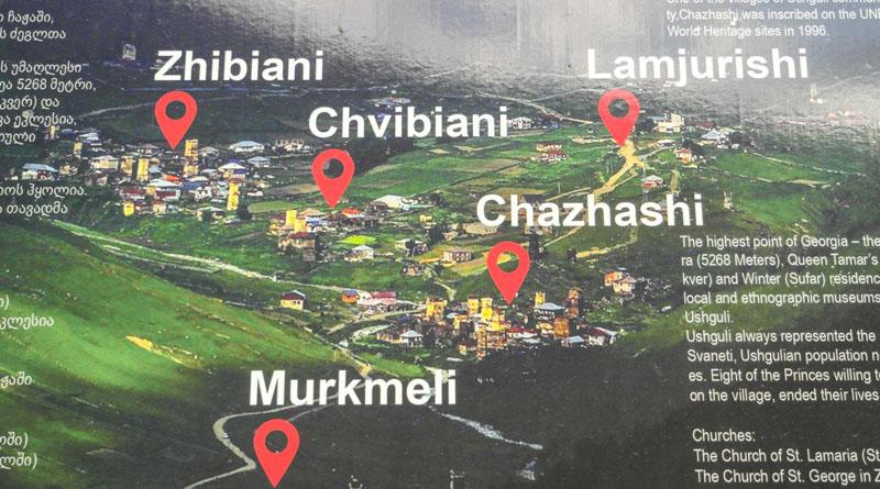 نقشه دهکده های تاریخی اوشگولی